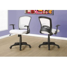I 7266 OFFICE CHAIR - WHITE MESH MID-BACK / MULTI-POSITION