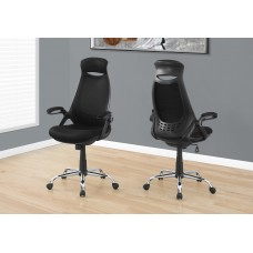 I 7268 OFFICE CHAIR - BLACK MESH / CHROME HIGH-BACK EXECUTIVE