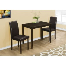 I 1015 DINING SET - 3PCS SET / CAPPUCCINO / BROWN PARSON CHAIRS