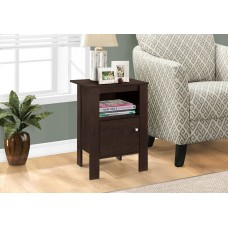I 2135 ACCENT TABLE - CAPPUCCINO NIGHT STAND WITH STORAGE