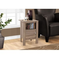 I 2136 ACCENT TABLE - DARK TAUPE NIGHT STAND WITH STORAGE