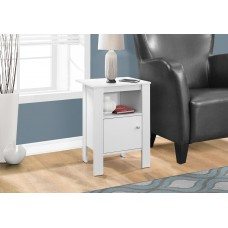 I 2137  ACCENT TABLE - WHITE NIGHT STAND WITH STORAGE