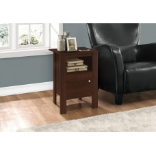 I 2139 ACCENT TABLE - CHERRY NIGHT STAND WITH STORAGE