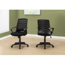 I 7224 OFFICE CHAIR - BLACK / BLACK MESH / MULTI POSITION