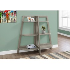 "I 2428 BOOKCASE - 48""H / DARK TAUPE ACCENT ETAGERE"
