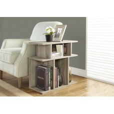 """I 2476 ACCENT TABLE - 24""""H / DARK TAUPE"""