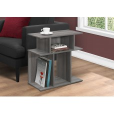 """I 2481 ACCENT TABLE - 24""""H / GREY"""