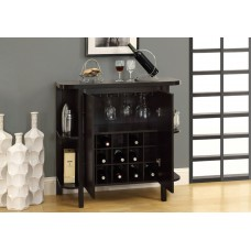 "I 2545 HOME BAR - 36""H / CAPPUCCINO WITH BOTTLE / GLASS STORAGE"