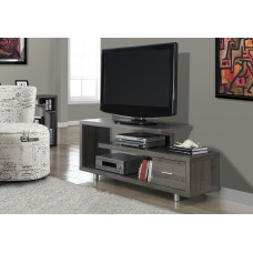 """I 2574 TV STAND - 60""""L / DARK TAUPE WITH 1 DRAWER"""