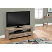 """I 2602 TV STAND - 48""""L / DARK TAUPE WITH 2 STORAGE DRAWERS"""