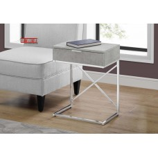 "I 3471 ACCENT TABLE - 24""H / GREY CEMENT / CHROME METAL"