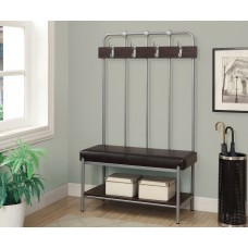 "I 4546 BENCH - 60""H / SILVER METAL HALL ENTRY"