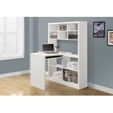 I 7022 COMPUTER DESK - WHITE LEFT OR RIGHT FACING CORNER