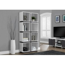 "I 7076 BOOKCASE - 71""H / WHITE / GREY (SHELF)"
