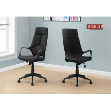I 7272 OFFICE CHAIR - BLACK / BLACK FABRIC / HIGH BACK EXECUTIVE