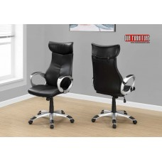 I 7290 OFFICE CHAIR - BLACK LEATHER-LOOK / HIGH BACK EXECUTIVE