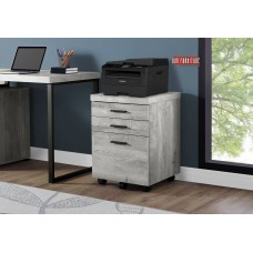 I 7401 FILING CABINET GREY  WOOD GRAIN LOOK