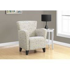 I 8013 ACCENT CHAIR - EARTH TONE GRAPHIC PATTERN FABRIC