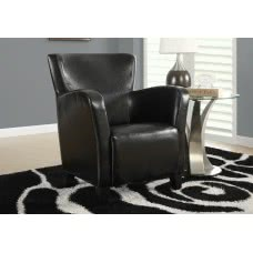 I 8067 ACCENT CHAIR - BLACK LEATHER-LOOK FABRIC