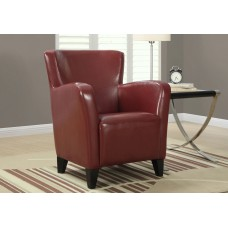 I 8068 ACCENT CHAIR - RED LEATHER-LOOK FABRIC