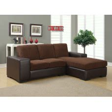 I 8200 BB SOFA LOUNGER - DARK BROWN CORDUROY / BROWN LEATHER-LOOK