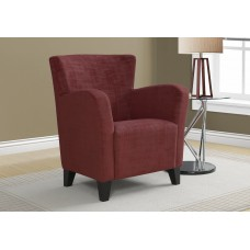 I 8216 ACCENT CHAIR - RED BRUSHED VELVET FABRIC