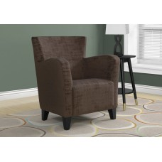 I 8218 ACCENT CHAIR - BROWN BRUSHED VELVET FABRIC