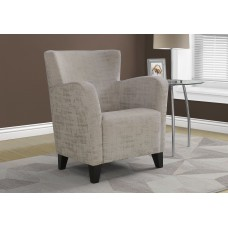 I 8220 ACCENT CHAIR - TAUPE BRUSHED VELVET FABRIC