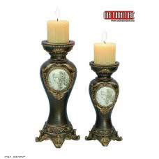 CAMEO COLLECTION OK-4192 C 2PC.CANDLE HOLDER SET