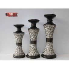 EVA COLLECTION SH 125C CANDLE HOLDER SET